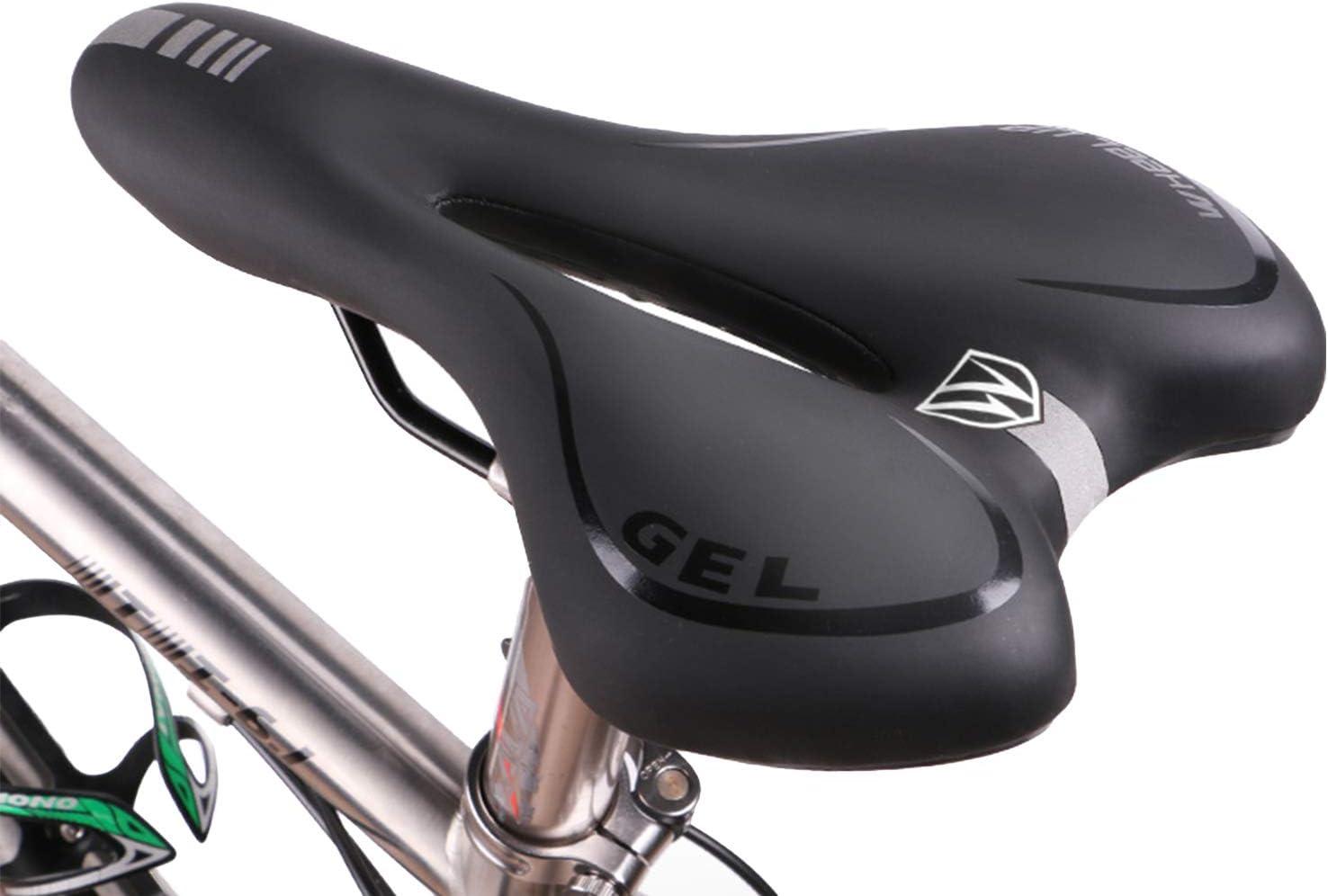 Respirant Creux Si/ège Antichoc Gel Selle de Bicyclette pour VTT//Route//Randonn/ée YiLVV Selle de V/élo Confort