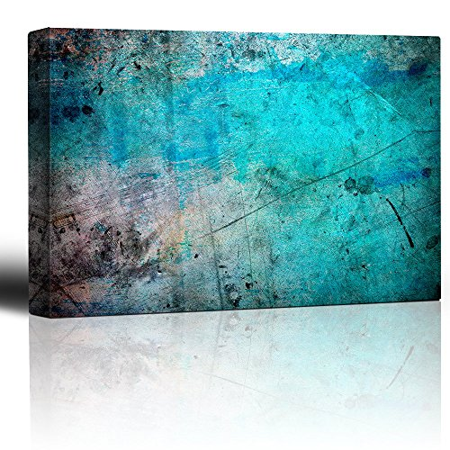 Blue and Splatter Ink Watercolor Paint Background Abstract Rustic