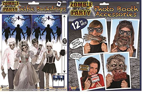 Nicky Bigs Novelties Zombie Party Decoration Photo Booth Props and Backdrop Background Halloween Fun ()