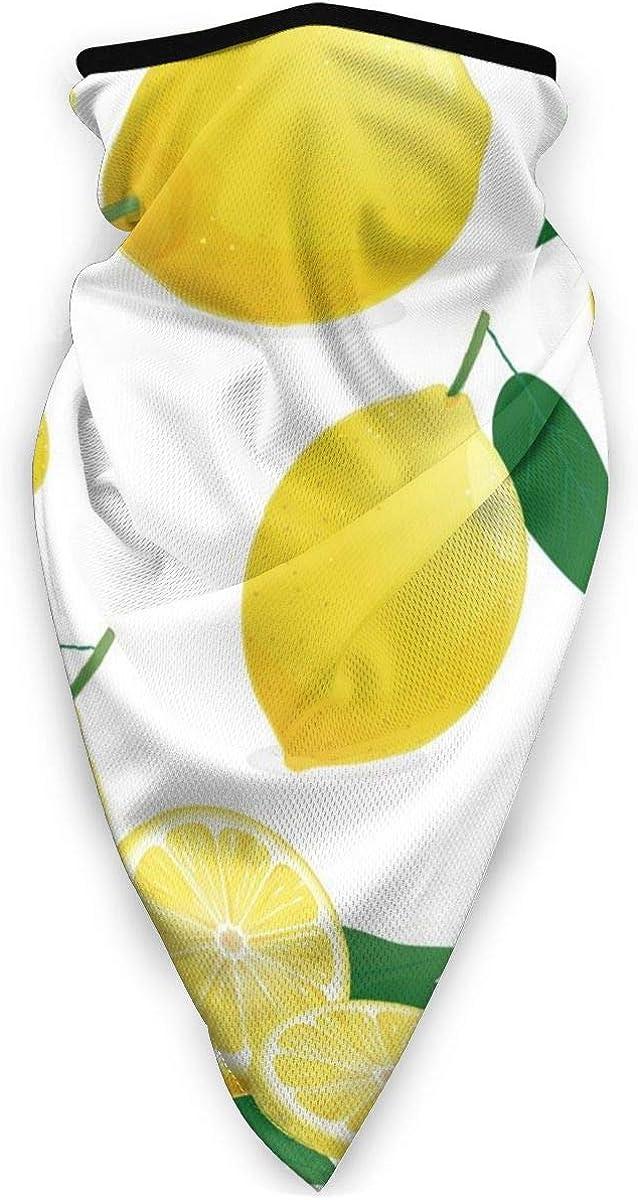 Fruit Set Of Lemon In Various Styles Neck Warmer Gaiter Windproof Sports Mask Face Motorcycle Mask Headband /& Beanie For Men Women Customized