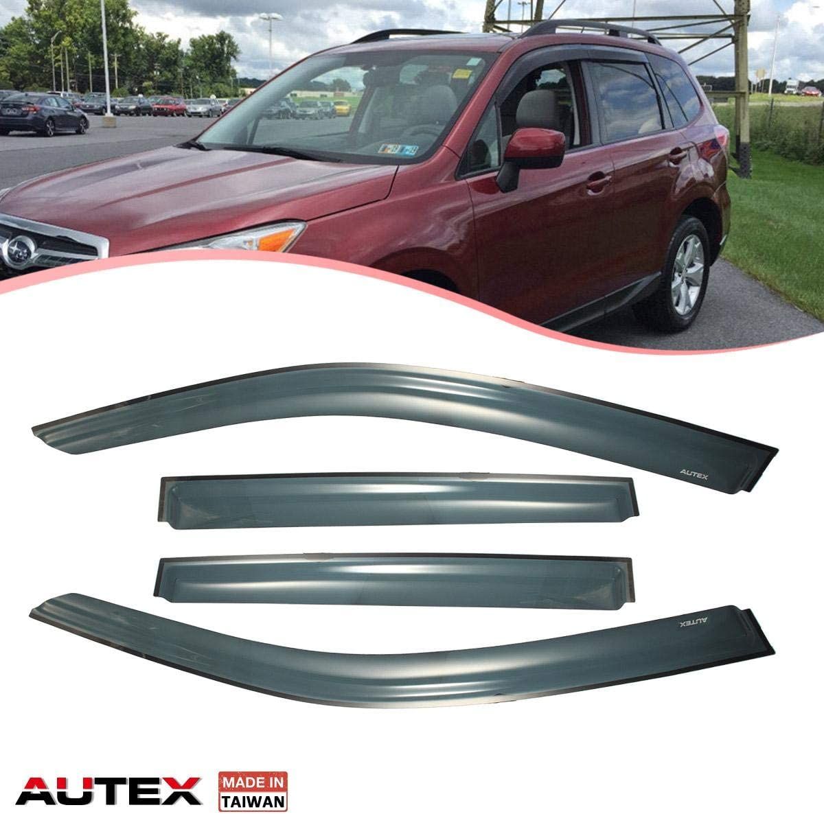 4-Piece Set for 2014-2018 Subaru Forester Auto Ventshade 194375 In-Channel Ventvisor Side Window Deflector
