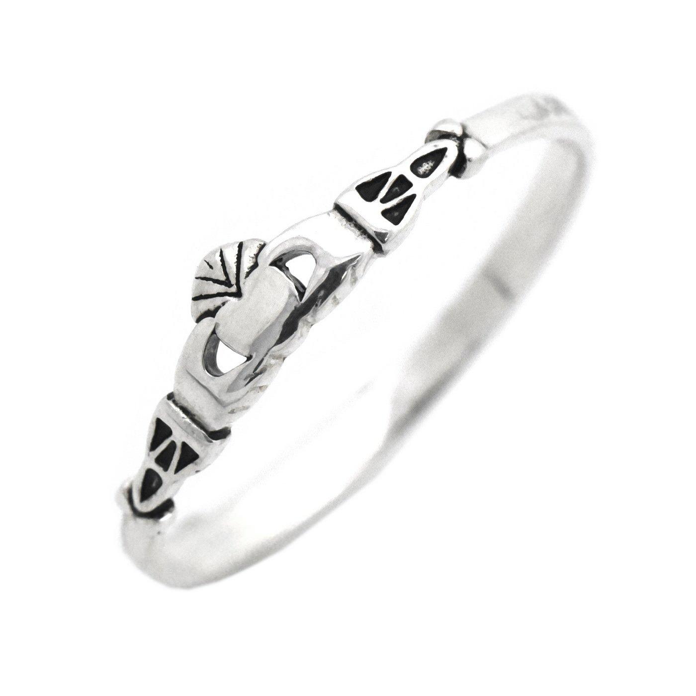 Irish Claddagh Ring 925 Sterling Silver Celtic Dainty Childrens Girls Womens Size 5