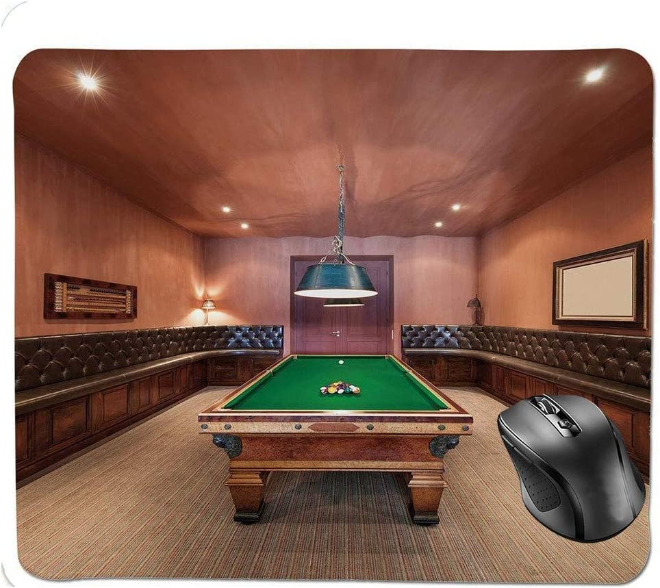 Ergonomic Mouse Pad,Entertainment Room in Mansion Pool Table ...