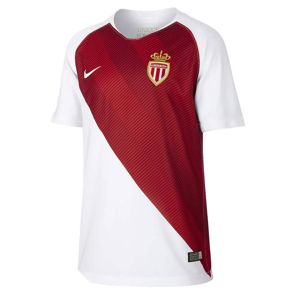 Nike 2018-2019 Monaco Home Football Soccer T-Shirt Trikot (Kids)