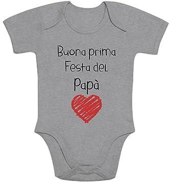 Buona Prima Festa del pap/à Regalo per Il Padre Body Neonato Manica Corta