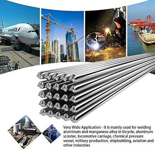 Alambre con n/úcleo de soldadura de aluminio a baja temperatura 50PCS, 2.0mm sin necesidad de polvo de soldadura Varillas de soldadura de aluminio con n/úcleo fundente Super Melt Easy Solution