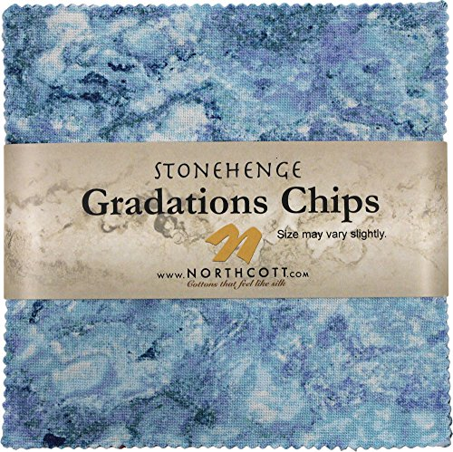 Stonehenge Gradations Mystic Midnight Stone Chips 42 5-inch Squares Charm Pack Northcott