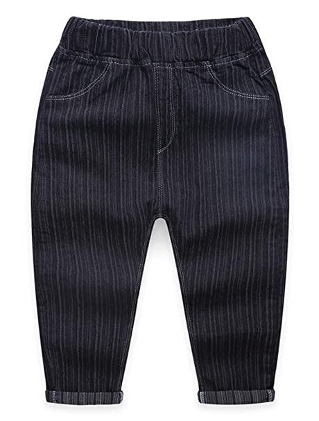 088989b640117 ARAUS Kids Boy Jeans Trousers Casual Washed Denim Pants Elastic Waist Autumn  Winter Clothes 3-9 Years  Amazon.co.uk  Clothing