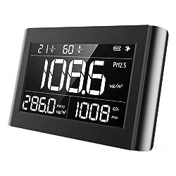 Therm P1000 de qualité de l'air moniteur Pm2.5 PM10 CO2 détecteur de température humidité de qualité de l'air utilisé l'intérieur De Cuisine Voiture et environnement de travail spécial