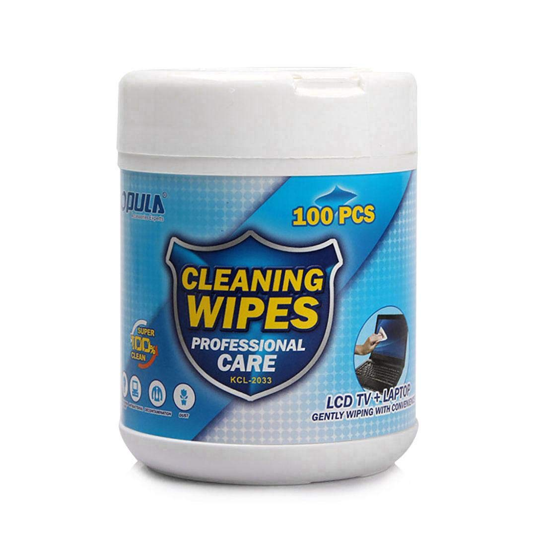 KLSP KCL-2033 Cleaning Wipes for Computer Screen