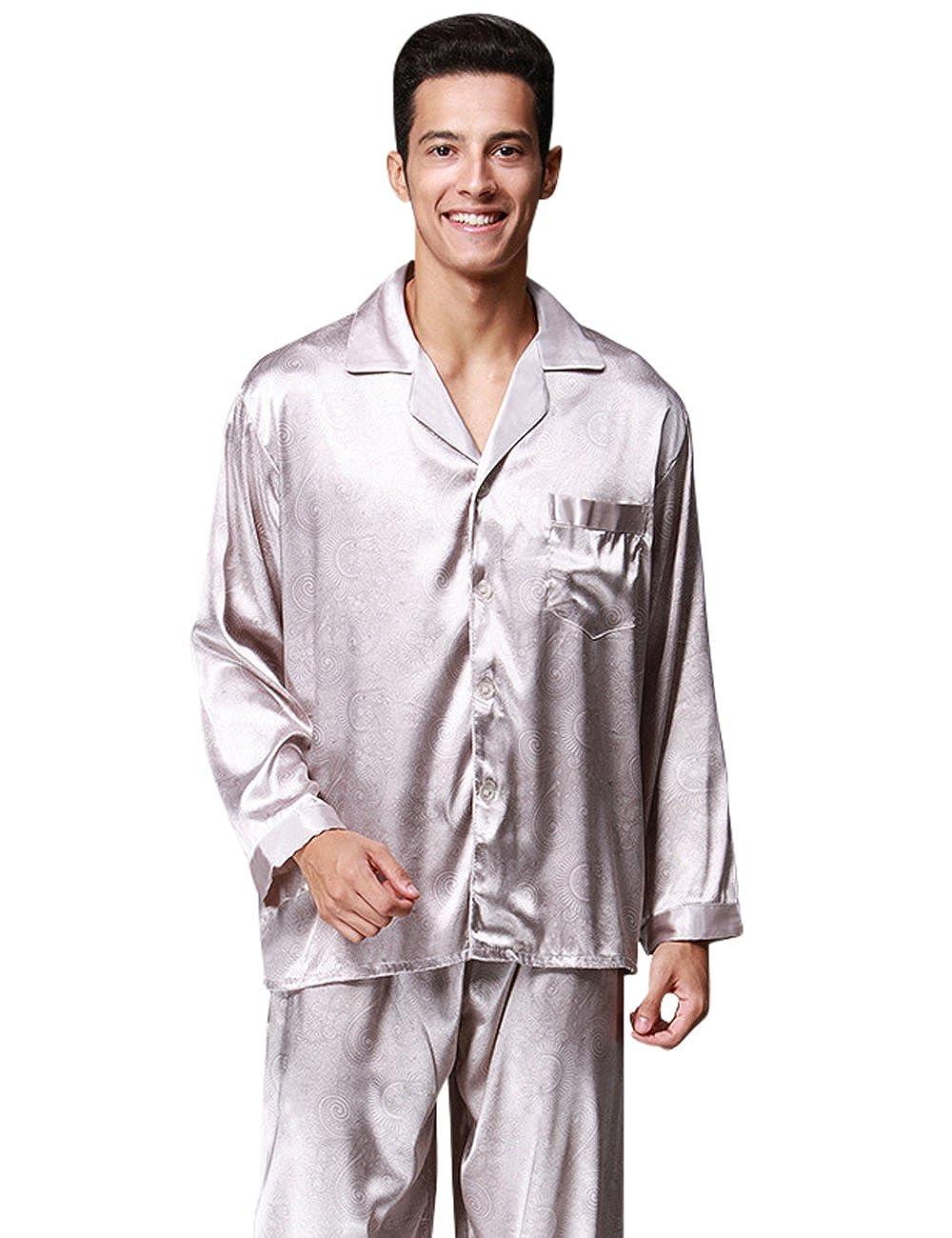 Menschwear Hombre Pajamas Set Serie Pijama Casual y Cómodo: Amazon.es: Ropa y accesorios