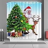 Best Christmas Decors - VANCAR Waterproof Bathroom Decor Custom Xmas Merry Christmas Review