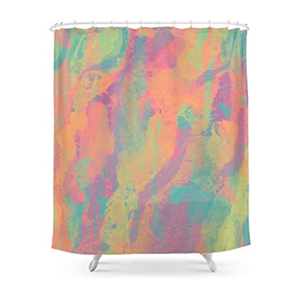 Amazon Sukuraceci Bathroom Neon Marble II Shower Curtain 72 By