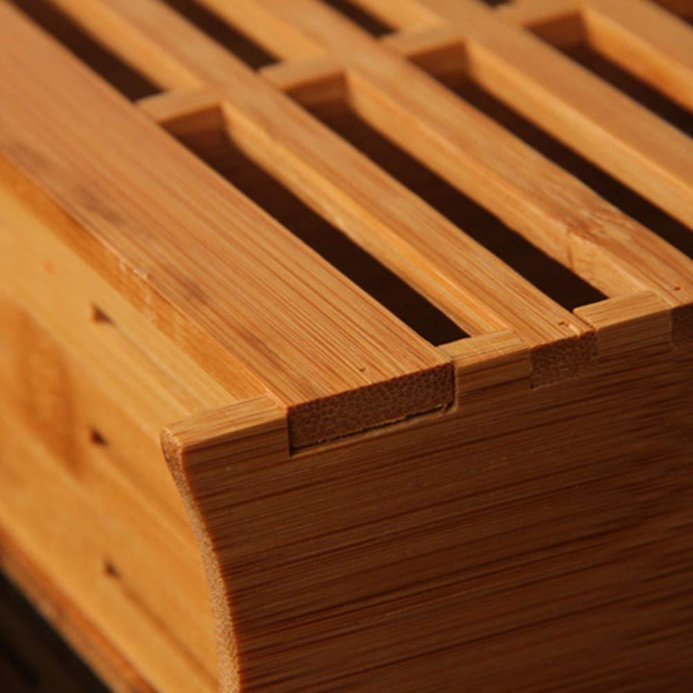 couverts S/échoir /évider Bambou Couverts de stockage de support pour ustensiles de cuisine Baguettes de bambou /à suspendre de stockage de support mural Baguettes Cuill/ère Porte-ustensiles Organiseur