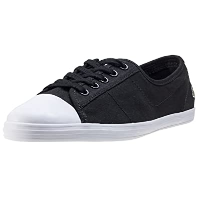 1d8497bdc Lacoste Ziane Bl 2 Womens Plimsoll Trainers in Black White - 5 UK