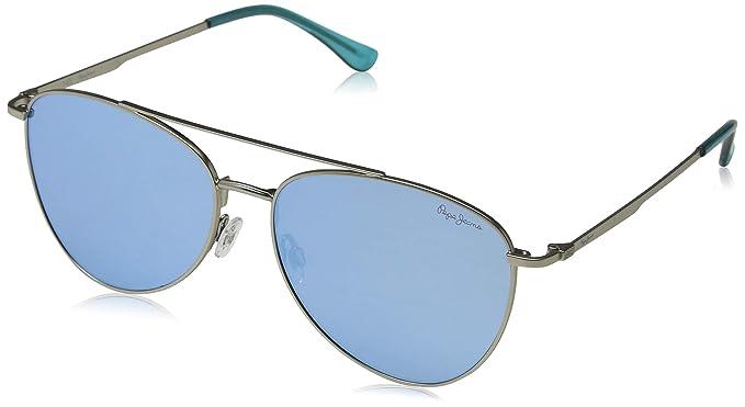 Pepe Jeans Neo Gafas de sol, Plateado (Matte Silver/Blue ...