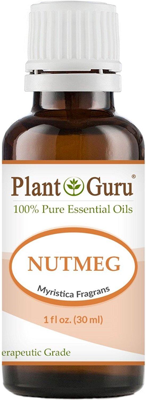 Nutmeg Essential Oil. 30 ml (1 oz) 100% Pure, Undiluted, Therapeutic Grade. by Plant Guru B00MOQJ6L2