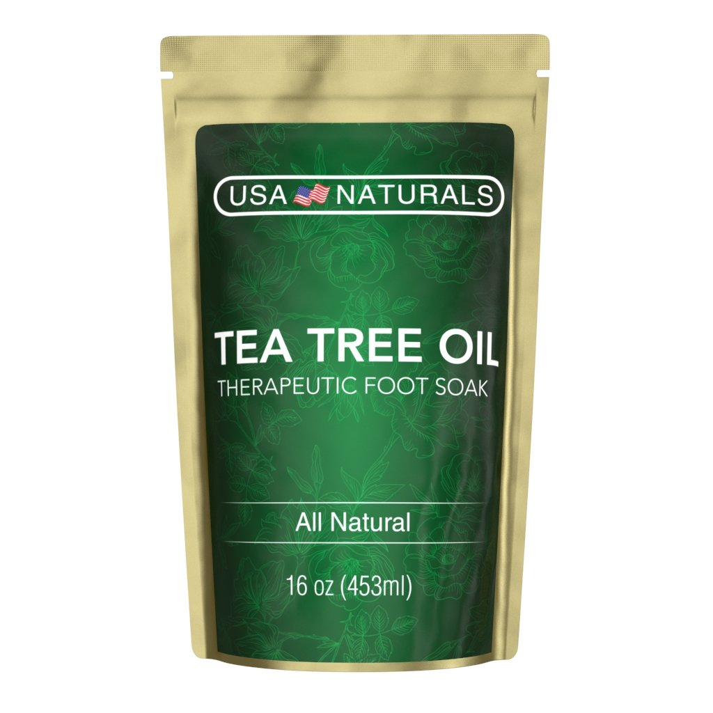 Tea Tree Oil Foot Soak With Epsom Salt-Deep Tissue Therapy for Sore, Cracked Feet-Helps Fungal Nail Infection & Athletes Foot-Eight Essential Oils and Salts for Healthy, Soft Feet (Tea Tree Foot Soak) USA Naturals