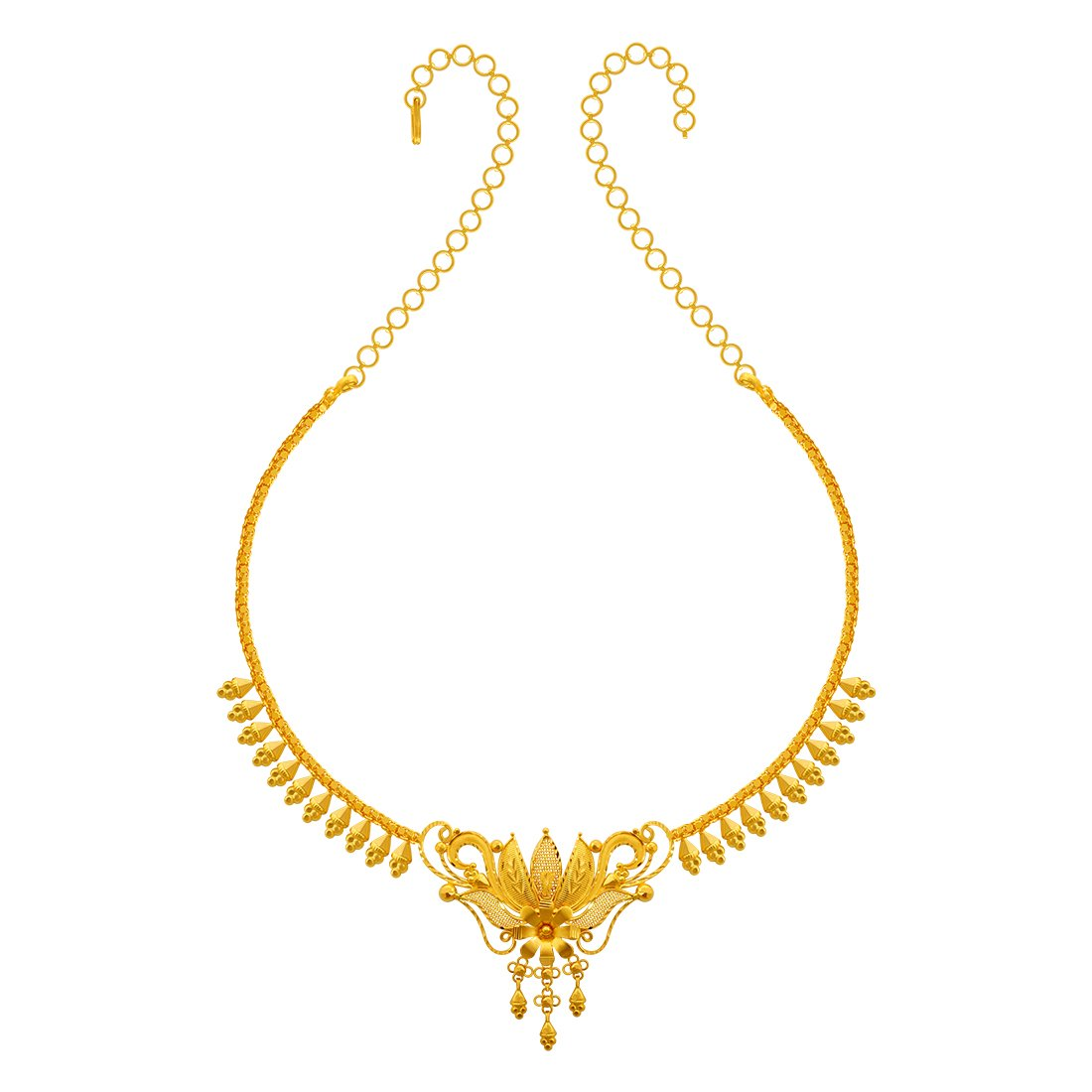 Buy P C Chandra Jewellers 22kt Yellow Gold Necklace For Women At Amazon In