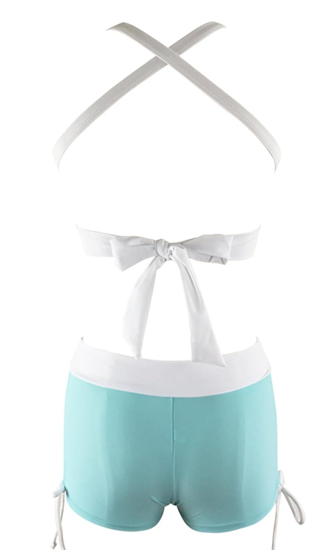 Zando Halter Bikini Set with Boyshort Push Up 2 Piece Swimsuit Bathing Suit for Women MNFUXA1S1754G0000
