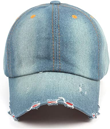 MERCHA Denim Fabric Adjustable Vintage Baseball Cap