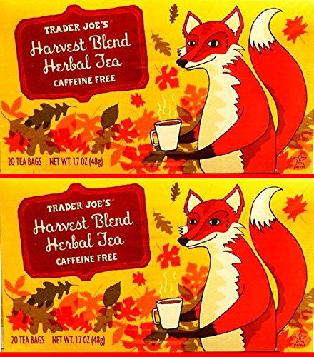 Trader Joe's Harvest Blend Herbal Tea Cafeeine Free 20 Tea Bags (Pack of 3)