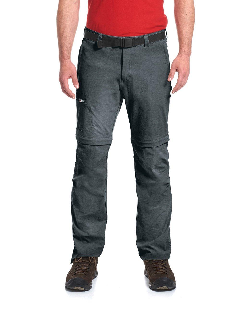 TALLA 52. Maier Sports Zipp, Pantalones de Senderismo para Hombre, Gris (Graphite), 52