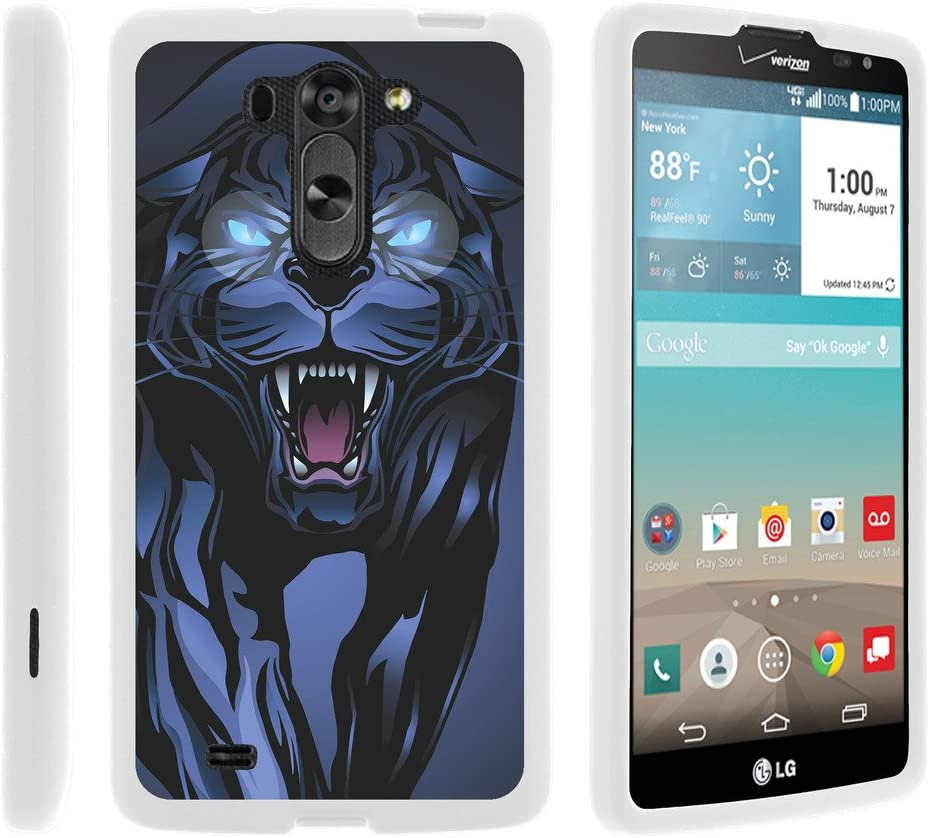 TurtleArmor | Compatible with LG G Vista Case | LG G Pro 2 Lite Case [Slim Duo] Slim Light Compact 2 Piece Hard Snap On Case Matte Animal on White - Fierce Panther
