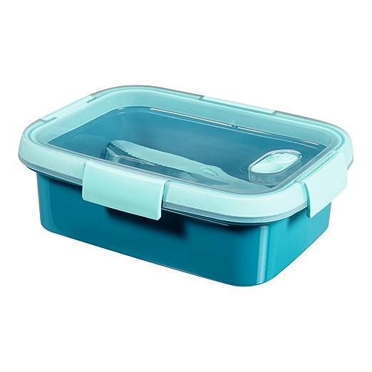 CURVER to go - Fiambrera + Cubiertos & Accesorios BPA Free, Azul ...