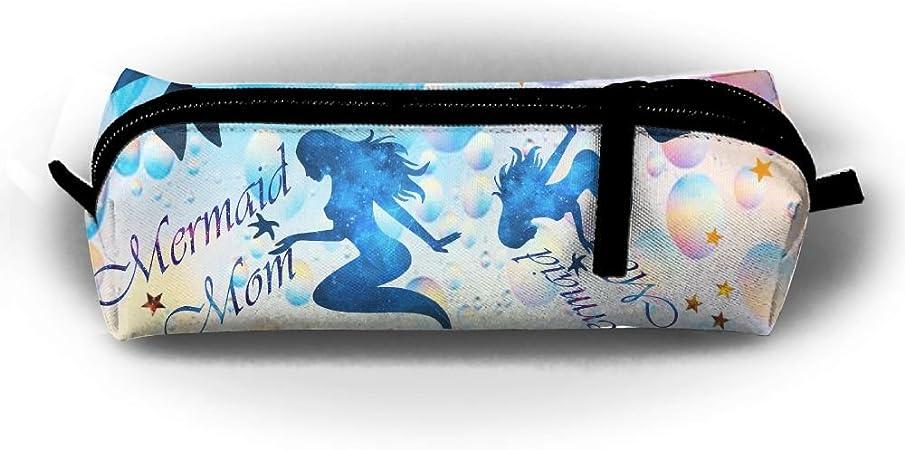 S4w5 cubo sirena Mom práctico estuches de lápices multifuncional portátil estudiantes con cremallera bolígrafo estuche de papelería bolsa de maquillaje manualidades Kit de herramientas bolsas: Amazon.es: Hogar