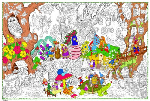 Gnome Home - Giant Wall Size Coloring Poster - 32.5