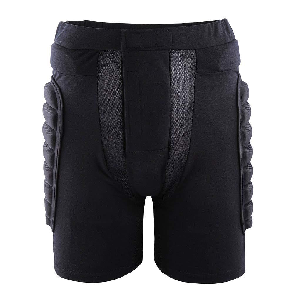 elegantstunning Pattinaggio Pattinaggio Sci Pantaloncini protettivi Imbottiti per Sport allaperto
