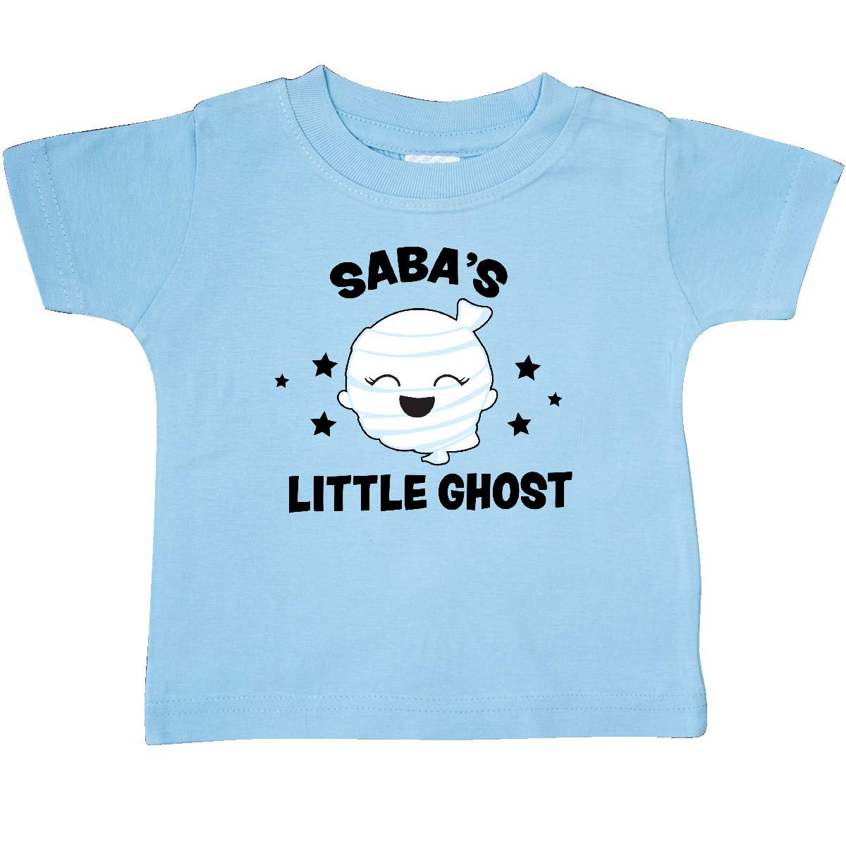 inktastic Cute Sabas Little Ghost with Stars Baby T-Shirt