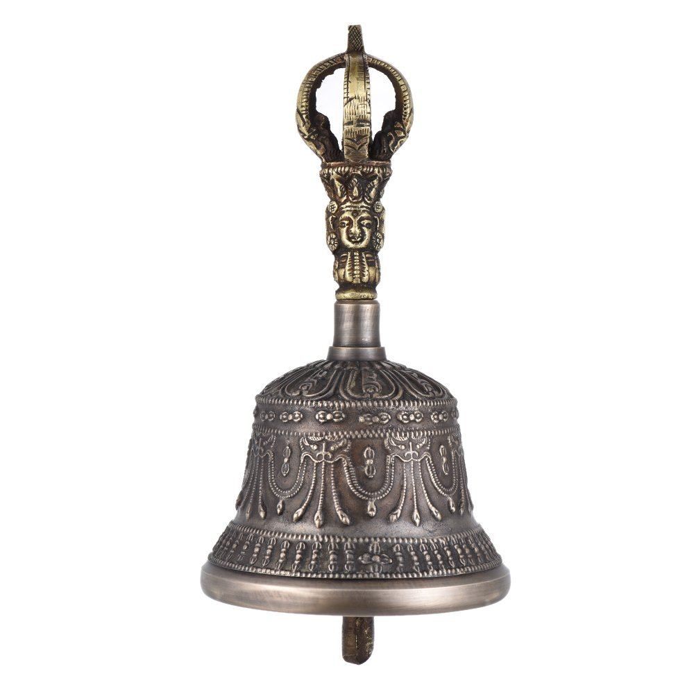 ammoon Tibetan Meditation Singing Bell with Dorje Vajra Bronze Temple Buddhism Buddhist Practice Instrument (Diameter: 8.2cm) by ammoon