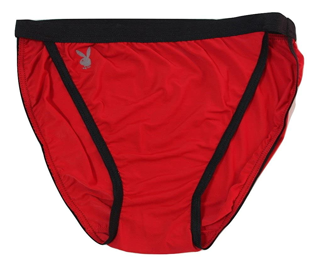 ec04c47c0307 Playboy 3 Pairs Mens Underwear Sexy Lycra Low-Waist Nylon Red Brief ...