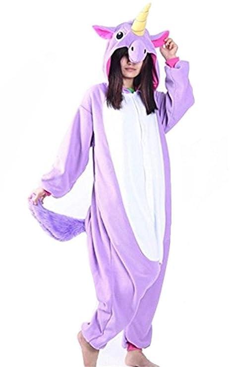 d2fadb3662c9e3 Kenmont Unicornio Juguetes y Juegos Animal Ropa de Dormir Cosplay Disfraces  Pijamas para Adulto Niños (Large, Púrpura)