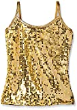 Gia Mia Dance Big Girls Sequin Camisole, Gold, Large