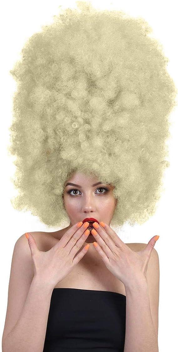 Details about  /Yellow Jumbo Afro Hallowen Wig Adult 100/% kanekalon fiber Kikko NYC Bright