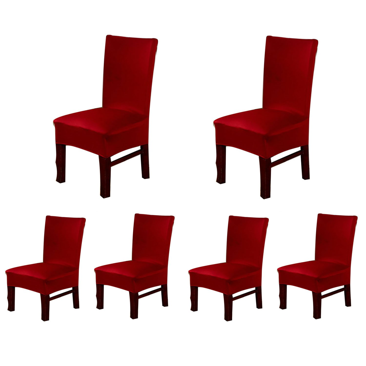 Jiuhong Stretch Removable Washable Short Dining Chair Protector Cover Slipcover, Style 01, 1 Pack JHTAO-0001-01-01