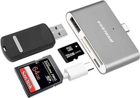 USB 3.1 Type-C USB-C 2 Port USB HUB TF SD Memory Card Reader Adapter