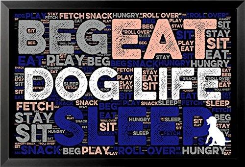 FRAMED Dog Life II by Brandi Fitzgerald 36x24 Art Print Post