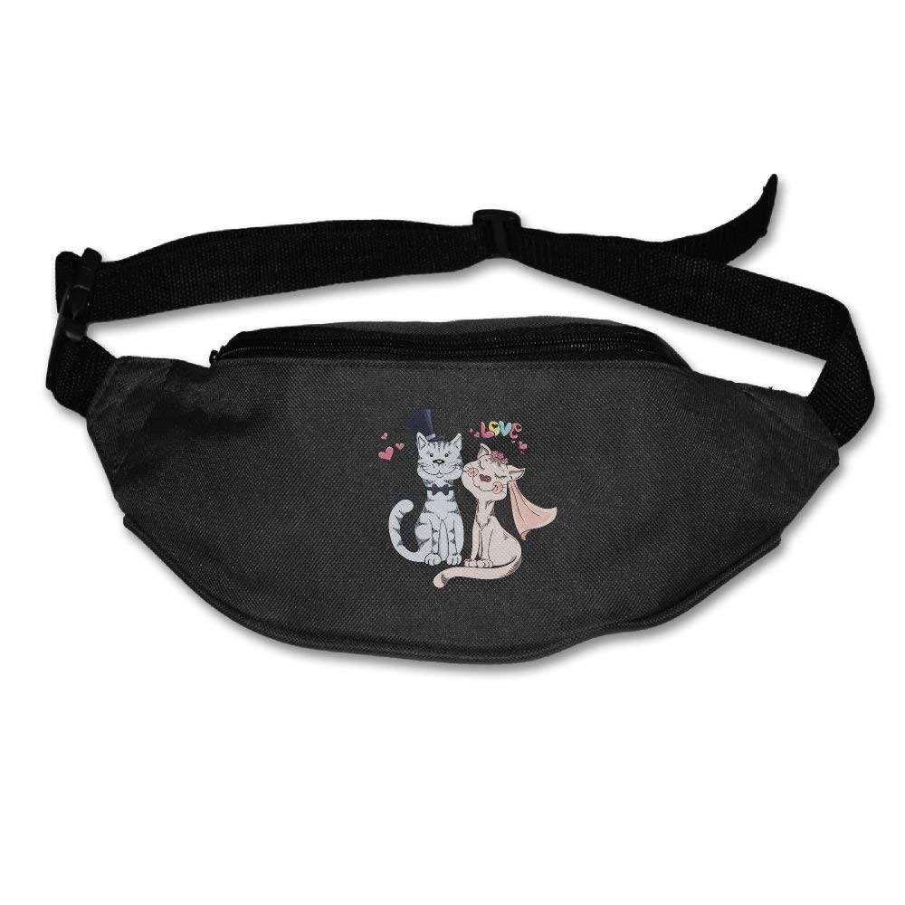 RuiKai Cat Bride And Groom Running Waist Pack Bag Travel Sports Fanny Pack For