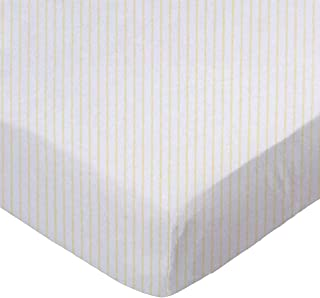 product image for SheetWorld Fitted Sheet (Fits BabyBjorn Travel Crib Light) - Yellow Stripes Jersey Knit - Made In USA