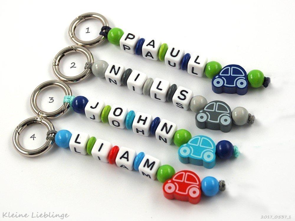 Schlüsselanhänger mit Gravur bzw Namen Kinder - Erwachsene - Taschenbaumler - AUTO - Schlüsselring - GRATIS Versand - verschiedene Farben