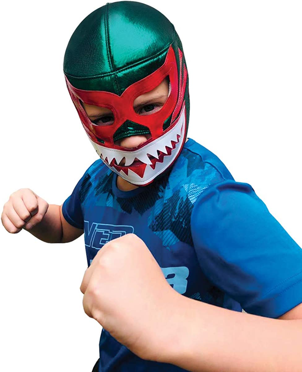 Mil Mascaras SHARK Youth Lucha Libre Wrestling Mask (Kids - Fit) Kids Wrestling Mask - Luchador Mask Kids by Make It Count