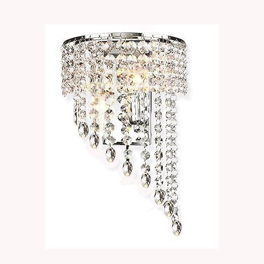 Crystal Wall Lights Aisle Bedside Light Fixtures Amazon Co Uk Lighting