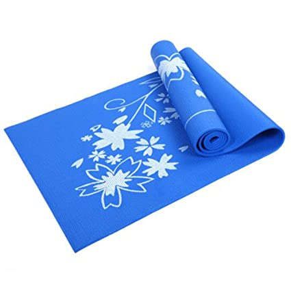 Antideslizante Yoga Mat --- 4MM estampas de yoga de PVC ...