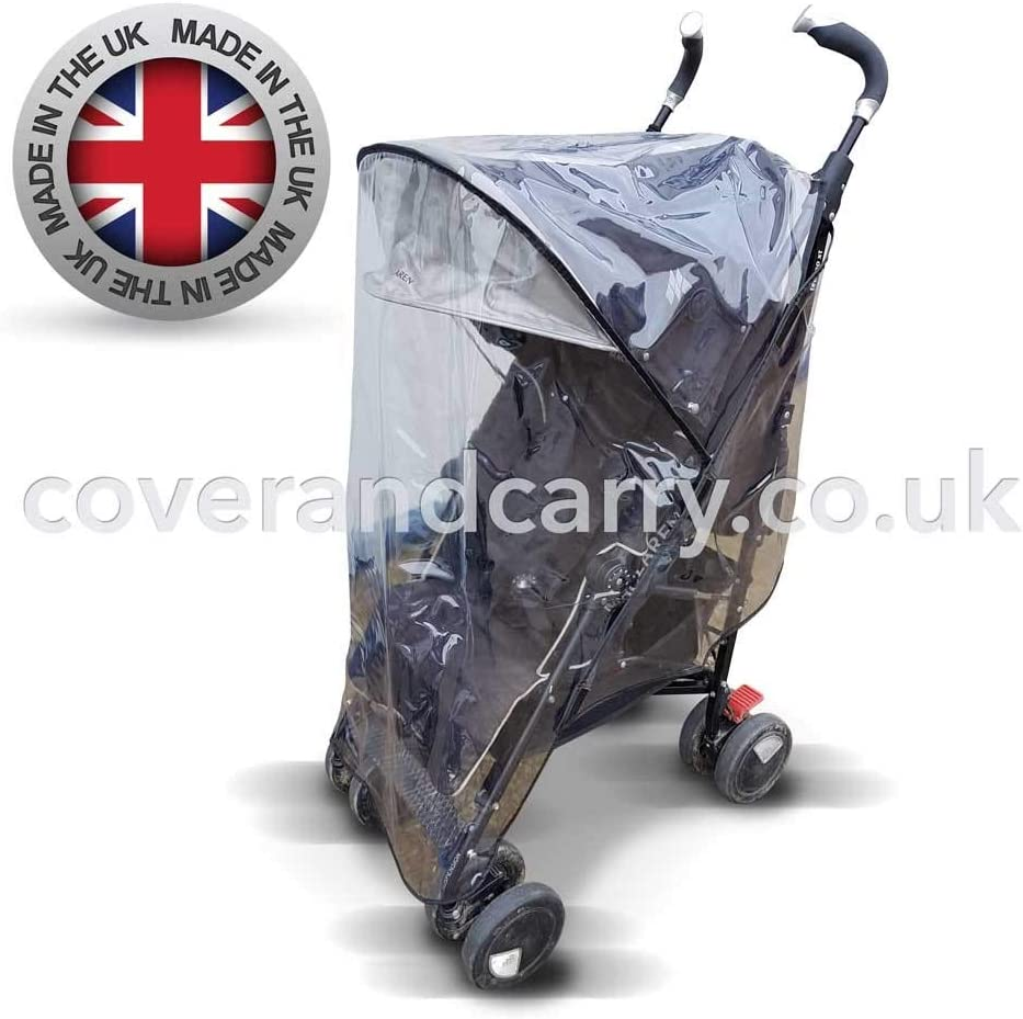 A Little More Money a lot More Quality!! Made in The UK Supersoft PVC Raincover for The Hauck Duett 2 Tandem