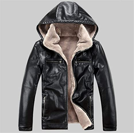 est Leather Jacket Men Winter Thicken Leather Jackets Coats Windproof Jacket Male Jaqueta Couro Masculina 5XL at Amazon Mens Clothing store: