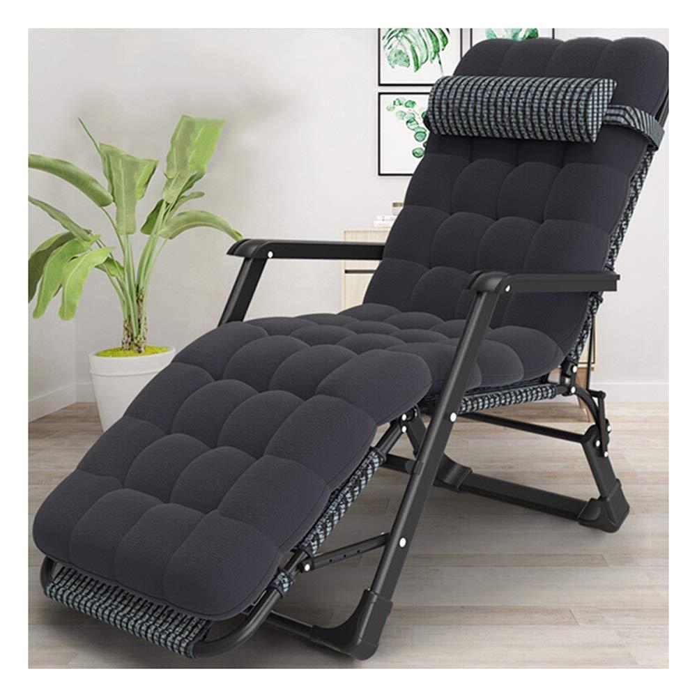 新品 JDGK - ラウンジチェア B07SZB5536 折りたたみ椅子シングルベッド折りたたみポータブル付属ベッドオフィスシエスタベッド黒バーストライプデュアルパーパスチェア 8974 店内限界値引き中&セルフラッピング無料